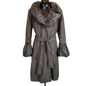 Per una All Weather Coat SZ 14 with Pouf Collar